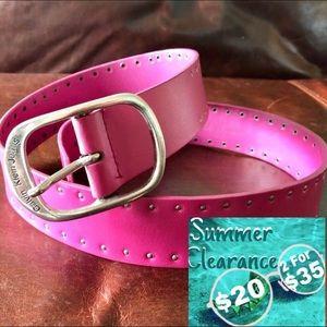 Calvin Klein Pink Leather Belt